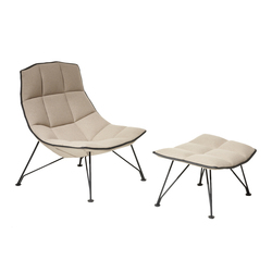 Jehs & Laub Lounge Sessel & Ottoman | Sessel | Knoll International