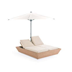 Zoe sun bed with umbrella | Sdraio da giardino | Point