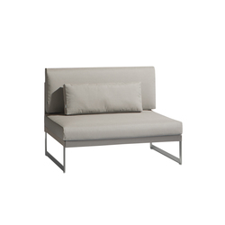 Squat Large middle seat | Garden armchairs | Manutti