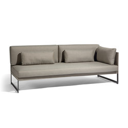 Squat Left corner double seat | Divani | Manutti