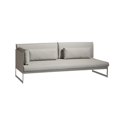 Squat Left & right corner double seat | Garden sofas | Manutti