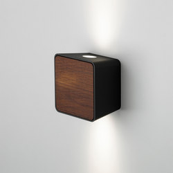 Lab 2 Black Dark Iroko | Lampade outdoor parete | Marset
