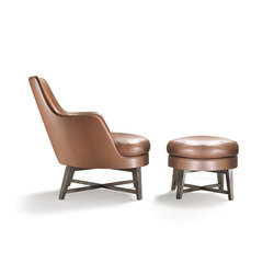 Guscio Armchair with stool | Lounge chairs | Flexform