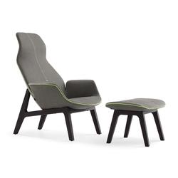 Ventura Lounge armchair I pouf | Armchairs | Poliform