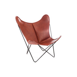 Hardoy Butterfly Chair Blank-Leder Cognac | Lounge chairs | Manufakturplus
