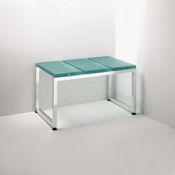 Linea Alu | 3 module bench | Stools / Benches | Effegibi