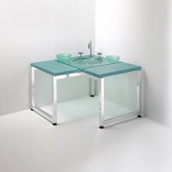linea Alu | banquette de coin avec fontaine | Meubles lavabos | Effegibi