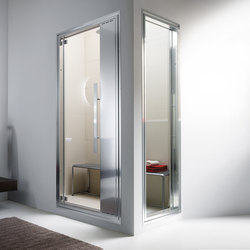 Omniasteam Touch 88 with Omnia 70 glass panel | Turkish baths | Effegibi