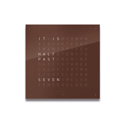 QLOCKTWO® CLASSIC Dark Chocolate | Clocks | BIEGERT&FUNK