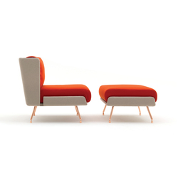 A&A Lounge Armchair + Ottoman | Loungesessel | Knoll International