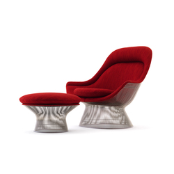 Platner Easy Chair + Ottoman | Poltrone | Knoll International