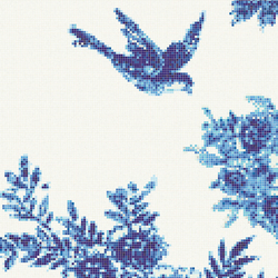 Jardin Bleu B | Mosaici in vetro | Bisazza