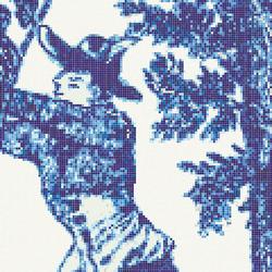 Jardin Bleu H | Mosaici in vetro | Bisazza