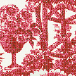 Jardin Rouge C | Glass mosaics | Bisazza