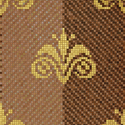 Palmira Rose Brown | Mosaici quadrati | Bisazza