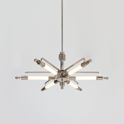 "Pendant Lamp ""Metropolis"" in Machine Age Design 
