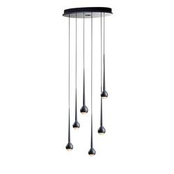 FALLING WATER 6 BLACK | Suspended lights | Tobias Grau