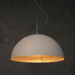 Mezza Luna blanc/or | Suspensions | IN-ES.ARTDESIGN