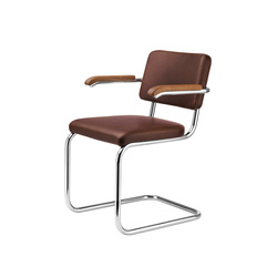 S 64 PV Steppchrom | Visitors chairs / Side chairs | Gebrüder T 1819