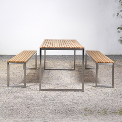 Table and Bench at_06 | Garden benches | Silvio Rohrmoser