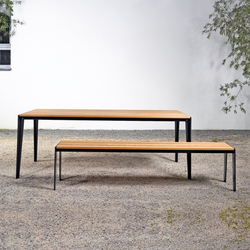 Table and bench at_14 | Garden benches | Silvio Rohrmoser