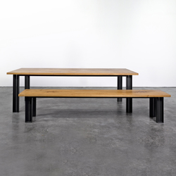 Table and Bench at_10 | Upholstered benches | Silvio Rohrmoser