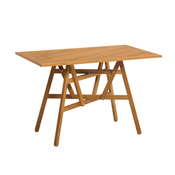 Nods Folding Table rectangular | Mesas de comedor de jardín | Atelier Pfister