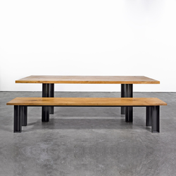 Table and Bench at_12 | Upholstered benches | Silvio Rohrmoser