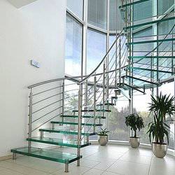 Sevilla Glass Helical   Staircase systems   Siller Treppen