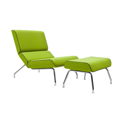 Milo lounge chair with footstool | Poltrone lounge | Softline A/S