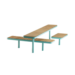 Forum bench & table | Benches with tables | Vestre