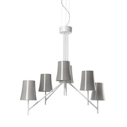 Birdie 6 suspension grey | Suspensions | Foscarini