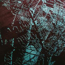 Flora Dark Brown-Cyan | Tappeti / Tappeti d'autore | 2Form Design