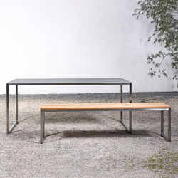 Table and Bench at_02 | Garden benches | Silvio Rohrmoser