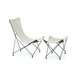 LAWRENCE 390|391 lounge chair with footstool | Fauteuils de jardin | Roda