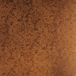 Tactile Amber damask | Natural leather wall tiles | Nextep Leathers
