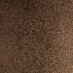 Tactile Moresque damask | Azulejos de pared de cuero natural | Nextep Leathers