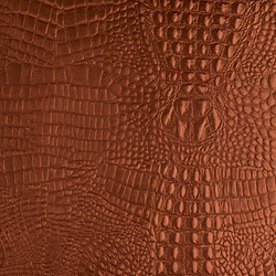 Tactile Mahogany cayman | Azulejos de pared de cuero natural | Nextep Leathers