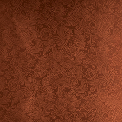 Tactile Mahogany damask | Azulejos de pared de cuero natural | Nextep Leathers