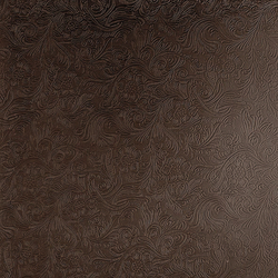 Tactile Choco damask | Azulejos de pared de cuero natural | Nextep Leathers