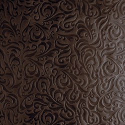 Tactile Choco lily | Azulejos de pared de cuero natural | Nextep Leathers