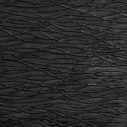 Tactile Black arcadia | Azulejos de pared de cuero natural | Nextep Leathers