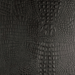 Tactile Black cayman | Azulejos de pared de cuero natural | Nextep Leathers