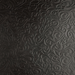 Tactile Black lily | Azulejos de pared de cuero natural | Nextep Leathers