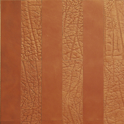 Kaleidos Boiserie Mahogany | Natural leather wall tiles | Nextep Leathers