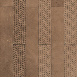 Kaleidos Boiserie Sand | Natural leather wall tiles | Nextep Leathers