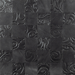 Kaleidos Mosaics slate | Natural leather wall tiles | Nextep Leathers