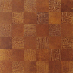 Kaleidos Mosaics amber-elefant-chips | Natural leather wall tiles | Nextep Leathers
