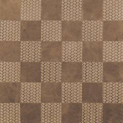 Kaleidos Chips Avorio-Treccia | Leather tiles | Nextep Leathers