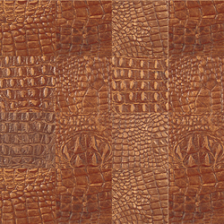 Kaleidos Mosaics mahogany-cayman-tozzetti | Natural leather wall tiles | Nextep Leathers